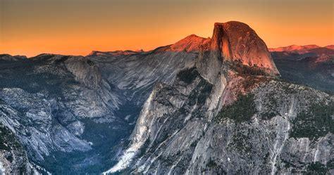 Half Dome Granite Rock Formation Yosemite National