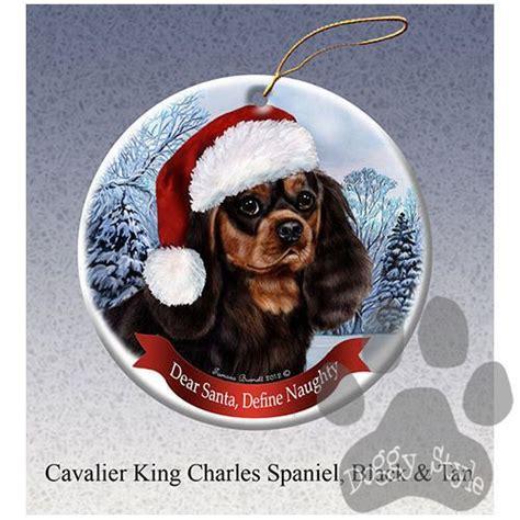 cavalier king charles spaniel black howliday dog christmas