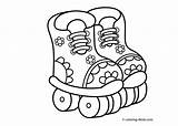 Coloring Printable Sports Rollers 4kids источник sketch template