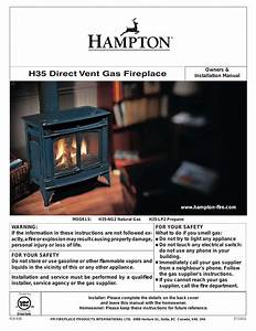 Regency Hampton H35 Large Gas Stove User Manual