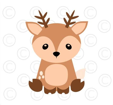 Baby Woodland Animal Svgs Baby Deer Cut Files Woodland