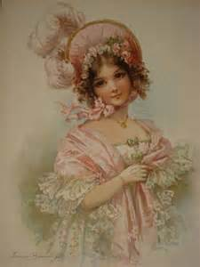 Vintage Victorian Lady Art