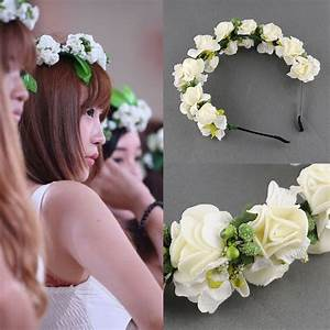 Flower Garland Floral Bridal Headband Wedding Party Prom
