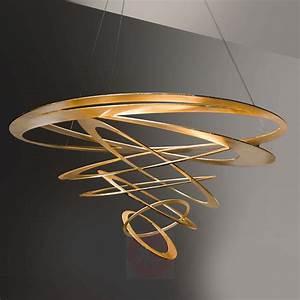 Moderne Hängeleuchten Design : loop design pendelleuchte in gold kaufen ~ Michelbontemps.com Haus und Dekorationen