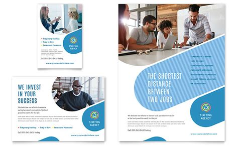 employment agency flyer ad template word publisher