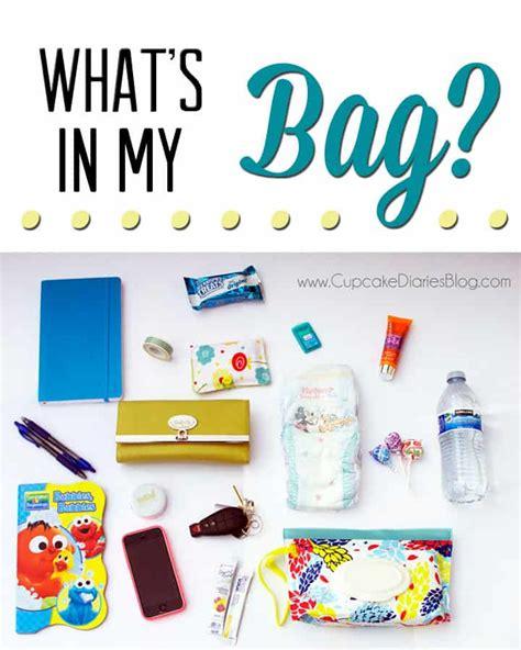 What's In My Bag?  Cupcake Diaries