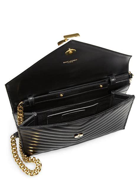 saint laurent monogramme bicolor chain shoulder bag  black lyst