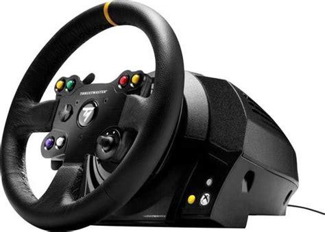 lenkrad für xbox one thrustmaster tx racing wheel leather edition lenkrad pc xbox one schwarz inkl pedale kaufen