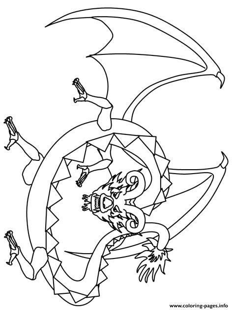 Scray Dragon Coloring Pages Printable