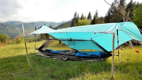 Hammock Cing Without Trees by Hammock Ground Set Up No Trees As One Person Tent Tarp