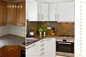 Küchenmöbel Neu Streichen : einbaukueche renovieren arbeitsplatten rueckwand fronten kueche ~ Bigdaddyawards.com Haus und Dekorationen