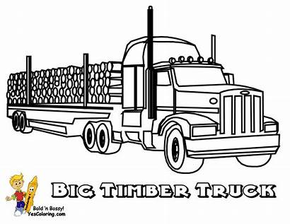 Coloring Trucks Truck Rig Timber Yescoloring Pages