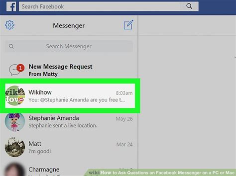 how to ask questions on messenger on a pc or mac 7 steps