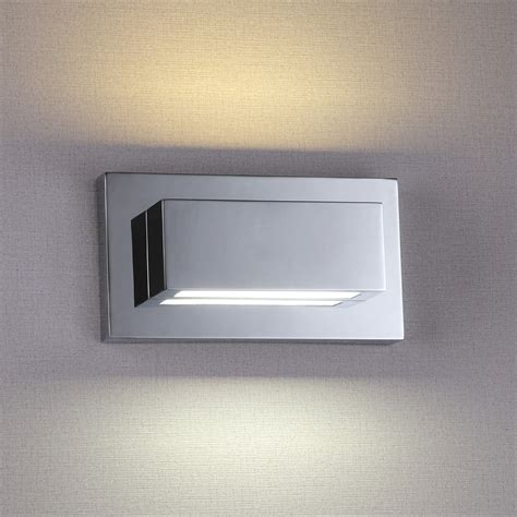 square chrome bathroom light pull switch wall lights