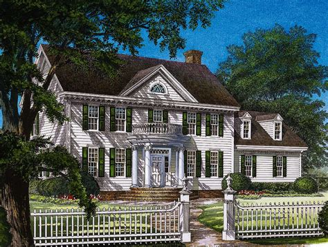 stately colonial home plan wp architectural designs house plans