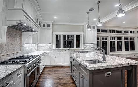 contemporary kitchen white ice granite countertops modern