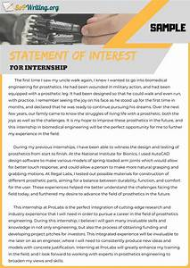 Letter Of Intent To Work Sample Our Finest Sample Sop For Internship