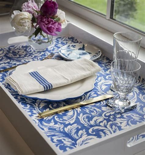 china blue acanthus placemats hester cook
