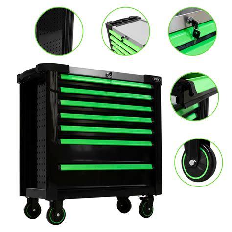 Instrumentu rati ar 7 lādēm, XL, zaļi, JBM