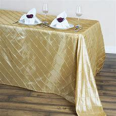 Rectangula R Pintuck Tablecloth Designer Dinner Wedding