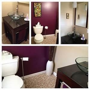 new half bath paint sherwin williams quotmature grapequot and With deep purple bathroom