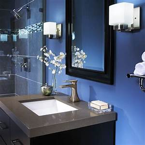 bright beautiful blue bathrooms furniture home With blue and gray bathroom designs