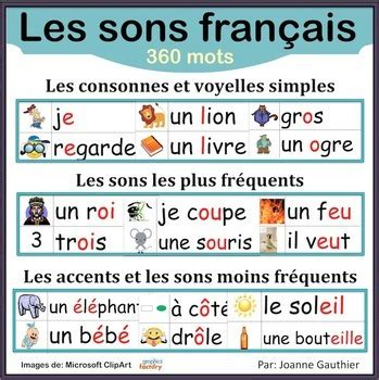 les sons francais en images french phonics illustrated
