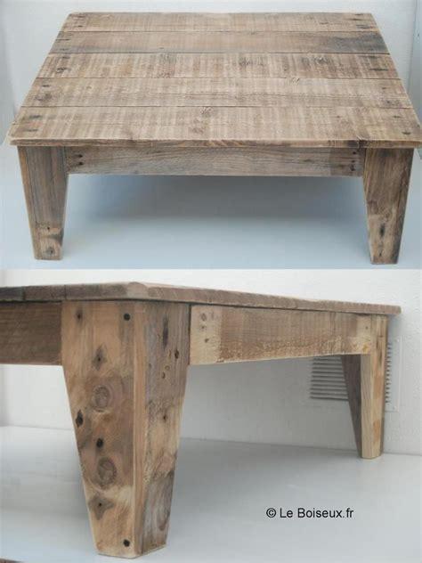 Table Salon Palette by Table De Salon En Bois De Palettes Deco