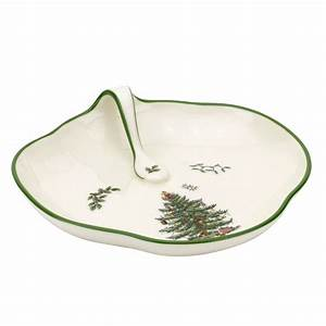Christmas tree single handled tray by spode for Christmas tree tray floor