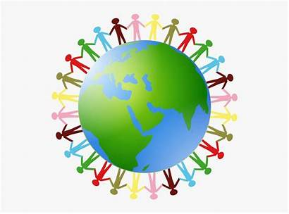 Holding Hands Earth Clipart Around Clip Transparent