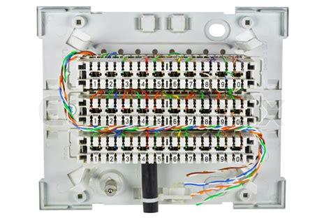 The Open Junction Box For Connection Stock Image
