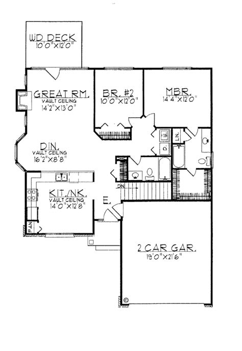 House Plan 97186 Ranch Style with 1281 Sq Ft 2 Bed 2