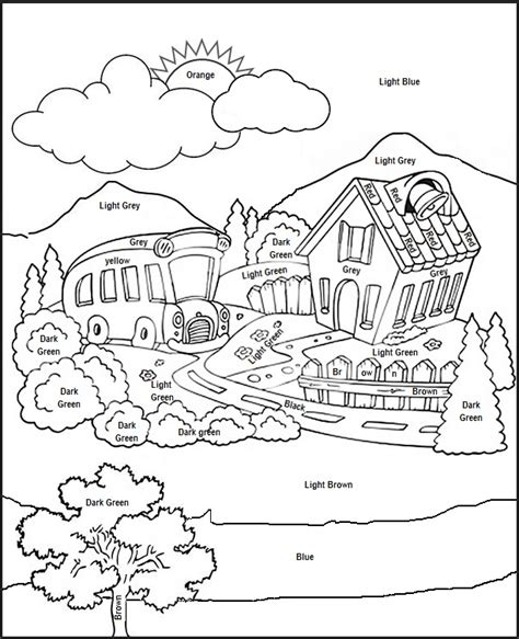 Coloring Worksheets by Pictures To Color Pictures To Color Worksheet