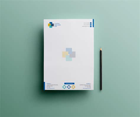 simple letterhead design ms word version  behance