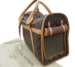 louis vuitton sac chien  dog carrier monogram leather
