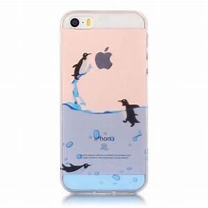 Coque Iphone Transparente : coque iphone se 5 5s transparente jeu de pingouins ~ Teatrodelosmanantiales.com Idées de Décoration