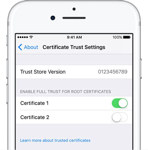 how to install profile on iphone trust manually installed certificate profiles in ios