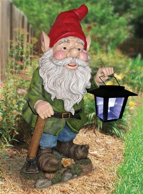 garden gnome with solar lantern only 109 95 at garden