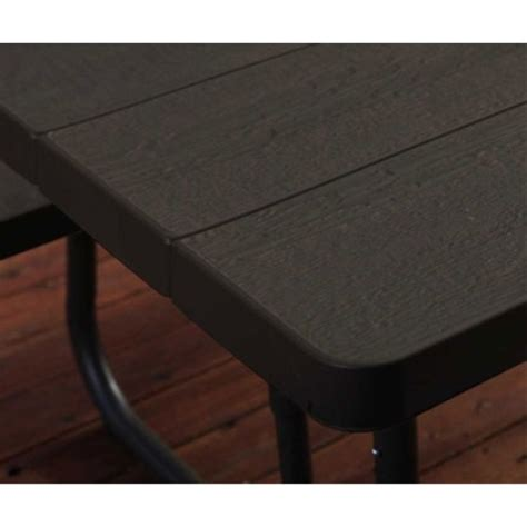 6 foot wood table lifetime 60228 faux wood brown color picnic table on sale