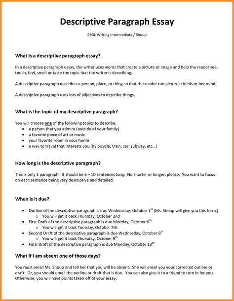 Descriptive Title Exles Resume by Descriptive Essay Exles Resume Exles