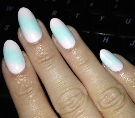 mint nails  almond nail shape