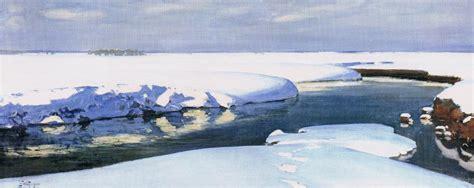 krajobraz zimowy  rzeka