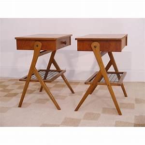 Pied De Meuble Vintage : chevets tables vintage danois scandinave pieds compas la ~ Dallasstarsshop.com Idées de Décoration