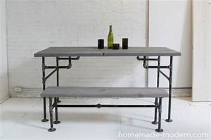 HomeMade Modern EP3 Wood + Iron Table