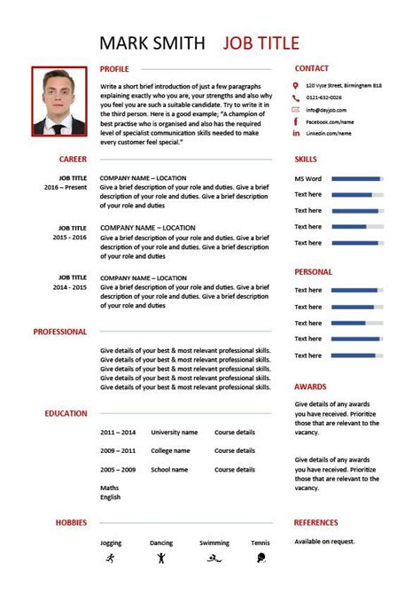 cv template designs resume layout font creative