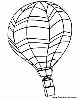 Balloon Air Coloring Pages Printable Horizontal Much sketch template