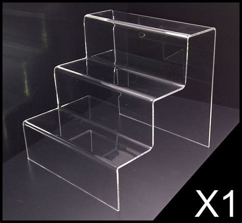 teir clear acrylic perspex display stand ebay