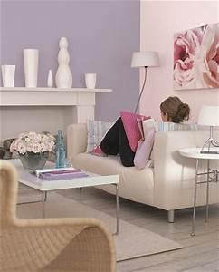 couleur parme pour la peinture salon avec du beige et gris With marvelous couleur mur salon tendance 2 comment associer la couleur parme dans sa deco