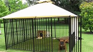 Dog kennels dog runs dog kennel dog run youtube for Puppy dog kennels