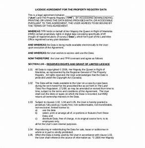license agreement template 10 free word pdf document With commercial property licence agreement template